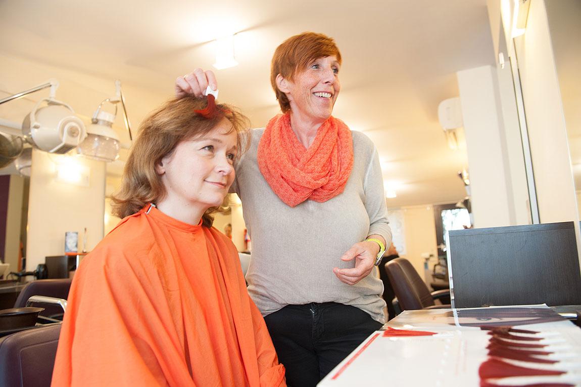 Haare färben bei Friseur Siepert
