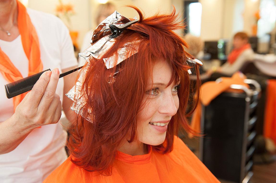 Strähnchen färben bei Friseur Siepert